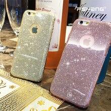 Fshang телефон чехлы для Iphone6 6S 6 плюс противоскольжения прозрачный ТПУ ультра-тонкие мягкие блестящие телефон заднюю панель Чехол для iPhone 6 6S 6