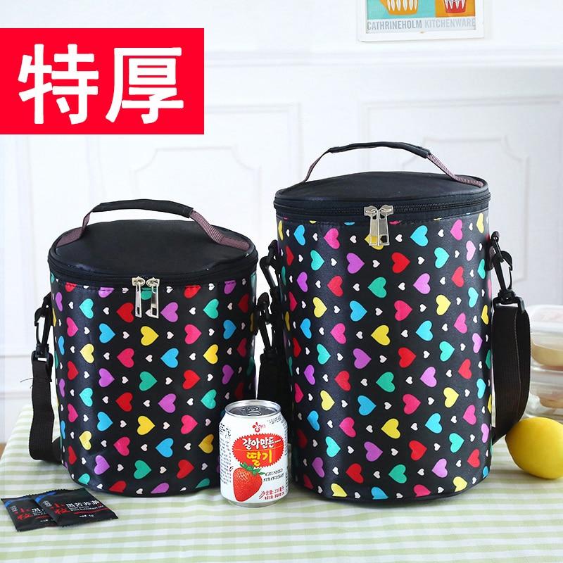 4a54061b9baa Cercle boîtes sac à lunch refroidisseur sac étanche sac tambour ceinture  portableLarge