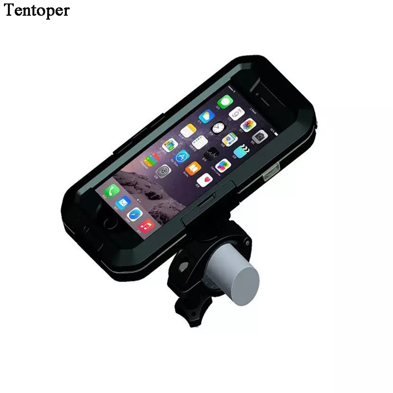 New High Quality Waterproof Bicycle Bike Phone Holder for <font><b>iPhone</b></font> 6 6s 7 7 Plus 5 5s SE Motorcycle Handlebar Mount Bracket Case