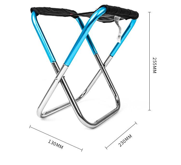 Cadeira de acampamento dobrável de pouco peso