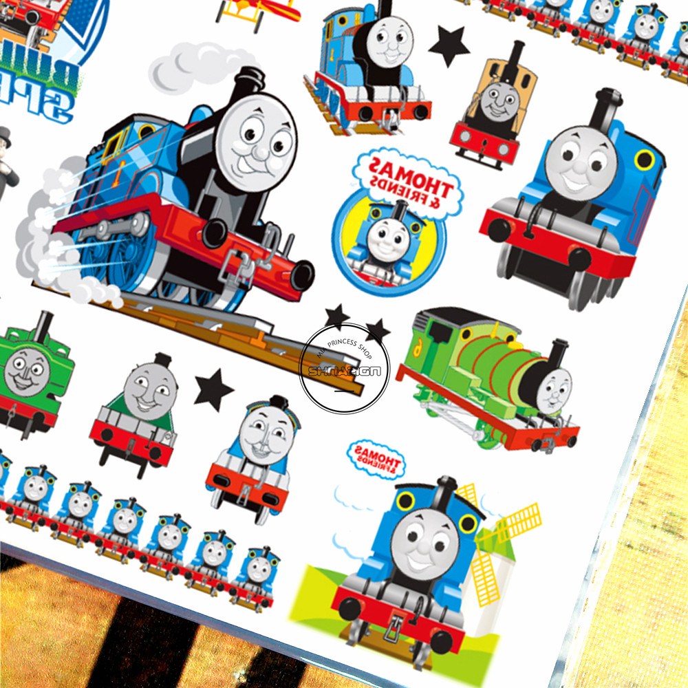 SHNAPIGN Train Thomas Child Temporal Body Art Flash Tattoo Sticker 10 - Tatuaje y arte corporal - foto 4