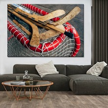 Hockey Sticks Gates Sport Painting 1 Piece Style Picture Modern Canvas Print Type Decorative Wall Artwork Poster