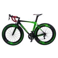 Новое поступление 2017 года 22 скорость супер свет Aero углеродного Волокно Велосипедный Спорт дороги полный велосипед тормоза V Bicicleta Велоспорт...