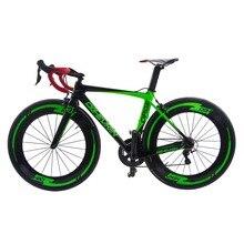 2017 New Arrival 22 speed Super Light Aero Carbon Fiber Bicycle Road Complete Bike V brake Bicicleta Cycling R36 49/52/54/56cm