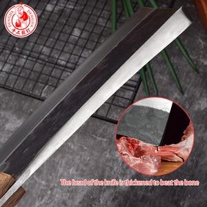 Image 3 - DENGJIA Butcher Knife Chinese Traditional Manual Forging Carbon Steel Chef Knife to Cut Bone Labor Saving Handle Chopper