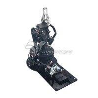 Metal Alloy 6 DOF Robot Arm Clamp Claw & Swivel Stand Mount Kit w/ 6pcs MG996R Servo