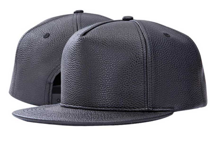 f3e7fd3f 6pcs Blank Black PU Snapback Hat Mens Fall Winter Plain Flat Bill ...