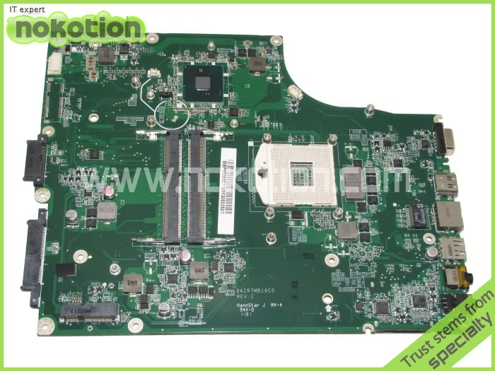 NOKOTION MB.PYF06.001 Laptop Motherboard for Acer aspire 5820 5820t Main board MBPYF06001 DAZR7MB16C0 Intel HD graphics HM55 nokotion z5wae la b232p for acer aspire e5 521 laptop motherboard nbmlf11005 nb mlf11 005 ddr3
