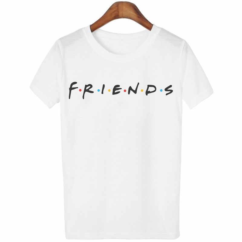 c7efa5c0dcb57 Женские футболки модные друзья ТВ шоу Ulzzang Harajuku Kawaii Vogue женские  s Топы Футболки Лучшие друзья