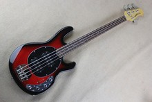 Active Pickups 9V battery Red Burst & Blue Music Man Ernie Ball Sting Ray 4 Strings Bass Electric Guitar 14930