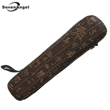 Древний китайский иероглиф флейта чехол 2-х секционный бамбуковый flauta мешок анти-борьба твердой коробкой духовой инструмент Dizi аксессуары