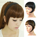 Women Girls Headband Hair Bangs Fringe Neat With Temples Hair Band Wigs Synthetic Hair Accessories F4418