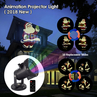 Chrismas Animated Projector Lights Waterproof Remote Control Movie Animation Effect LED Laser Lamp for Xmas Halloween