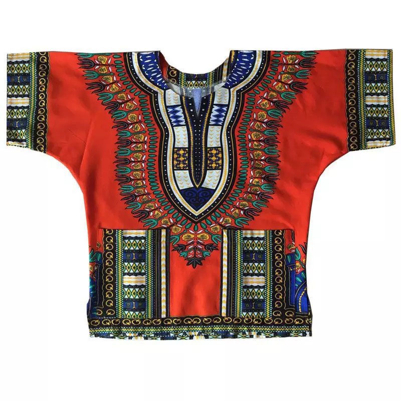 5 Colors African Kaftan Unisex Hippie Dashiki Scoop Neck T-Shirt Festival Loose Hippy Street Poncho Two Pocket Tee For Men Women