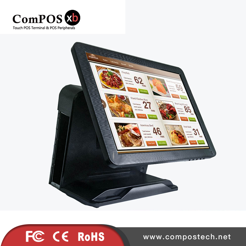 Free Shipping Factory directly Sell 15'' Touch Screen All in One POS System/<font><b>Cashier</b></font> POS <font><b>Machine</b></font> POS1618 With Built-in MSR image
