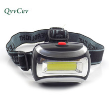 Mini high Power COB Led headlamp flashlight bright AAA head light lamp torch lampe frontale headlight for camping fishing