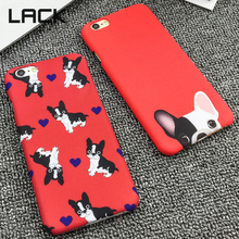 LACK Lovely Pocket Dog Phone Cases For iphone 5 5S Fashion Back Cover Cartoon Silm frosted Red Color Dogs Funda