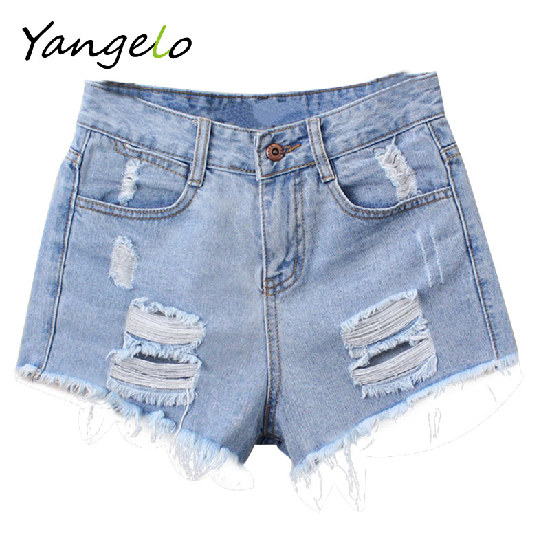 Ripped Blue Jean Shorts Promotion-Shop for Promotional Ripped Blue