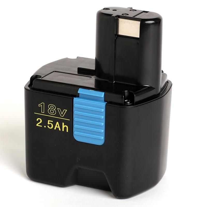 Pour Hitachi 18V 2500 mAh/2.5Ah batterie pour outil électrique Ni MH  322436  EB1812S  322437  EB1820  EB 1814SL  EB 1820L  EB 1824L  EB 18B  323902