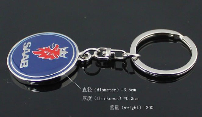 1xBlack Red Metal 3D Car Logo Emblem Remote Key Ring Chain Pendant Gift for Jeep