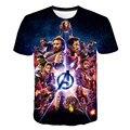 2019 New design t shirt men/women marvel Avengers Endgame 3D print t-shirts MAN Short sleeve Harajuku style tshirt tops US SIZE