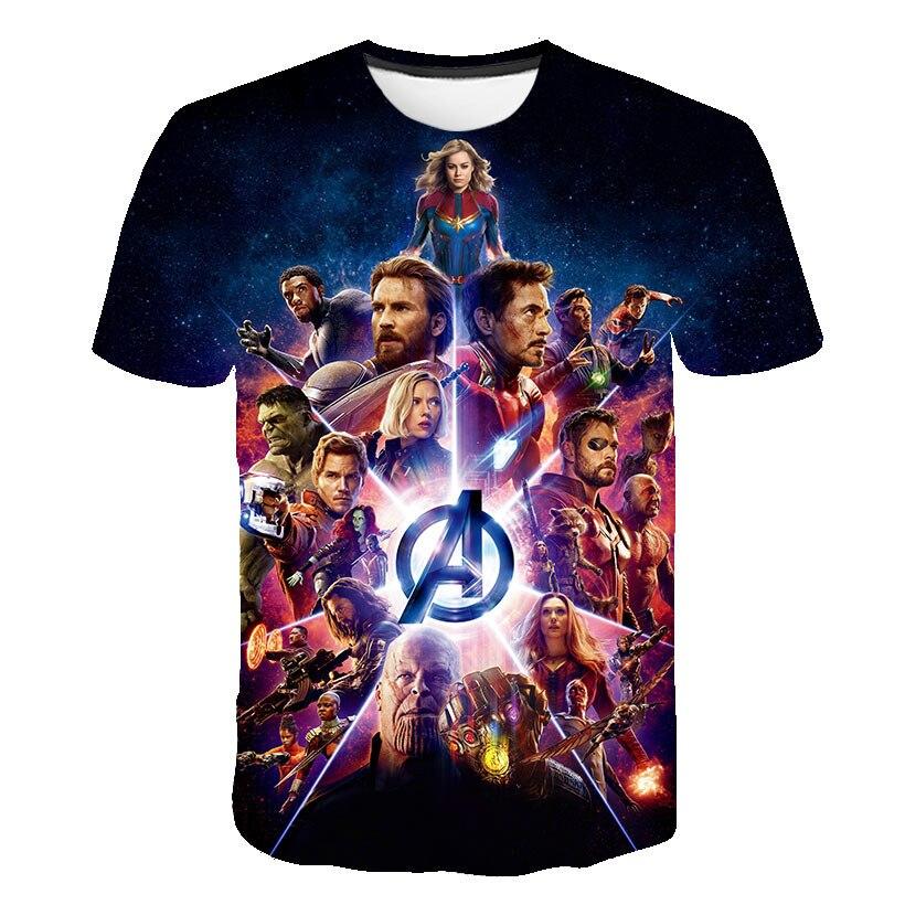 2019 nouveau design t-shirt hommes/femmes Avengers Endgame impression 3D t-shirts homme à manches courtes style Harajuku t-shirt hauts taille américaine