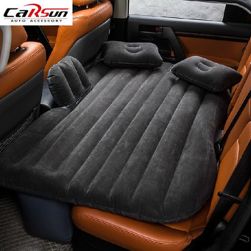 Car Travel Inflatable Mattress Air Bed Cushion Camping Universal SUV Extended Air Couch with Two Air Pillows Portable Bed