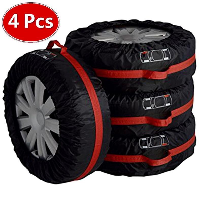 4 piezas de repuesto de la cubierta caso poliéster de invierno y verano neumático de coche bolsas de almacenamiento de Neumáticos Accesorios de la rueda del vehículo Protector nuevo