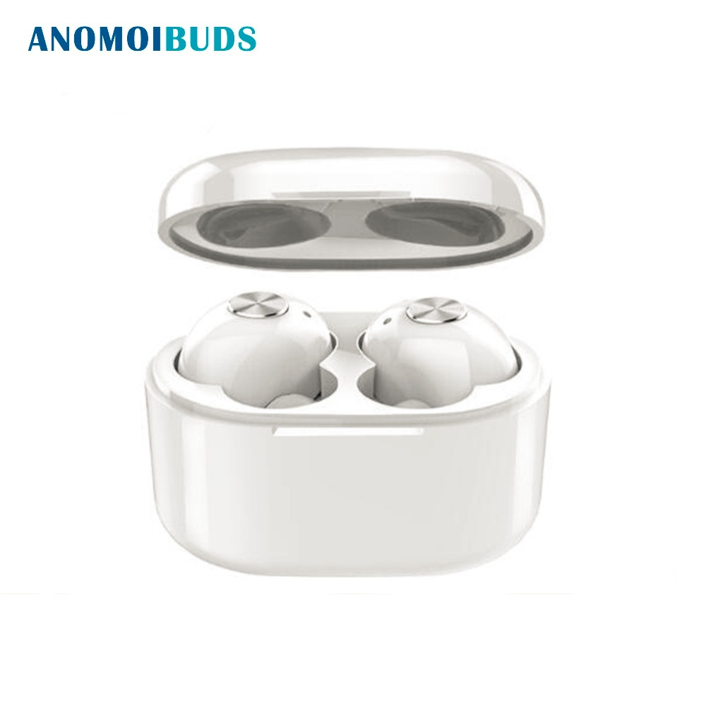 Anomoibuds True Wireless Earbuds Hifi Bluetooth Earphone TWS Stereo With Mic for iPhone X 8 Samsung Xiaomi Charger Box Earphones mini twins bluetooth earphone airpods true tws wireless stereo headset earbuds with mic charge box for iphone samsung xiaomi