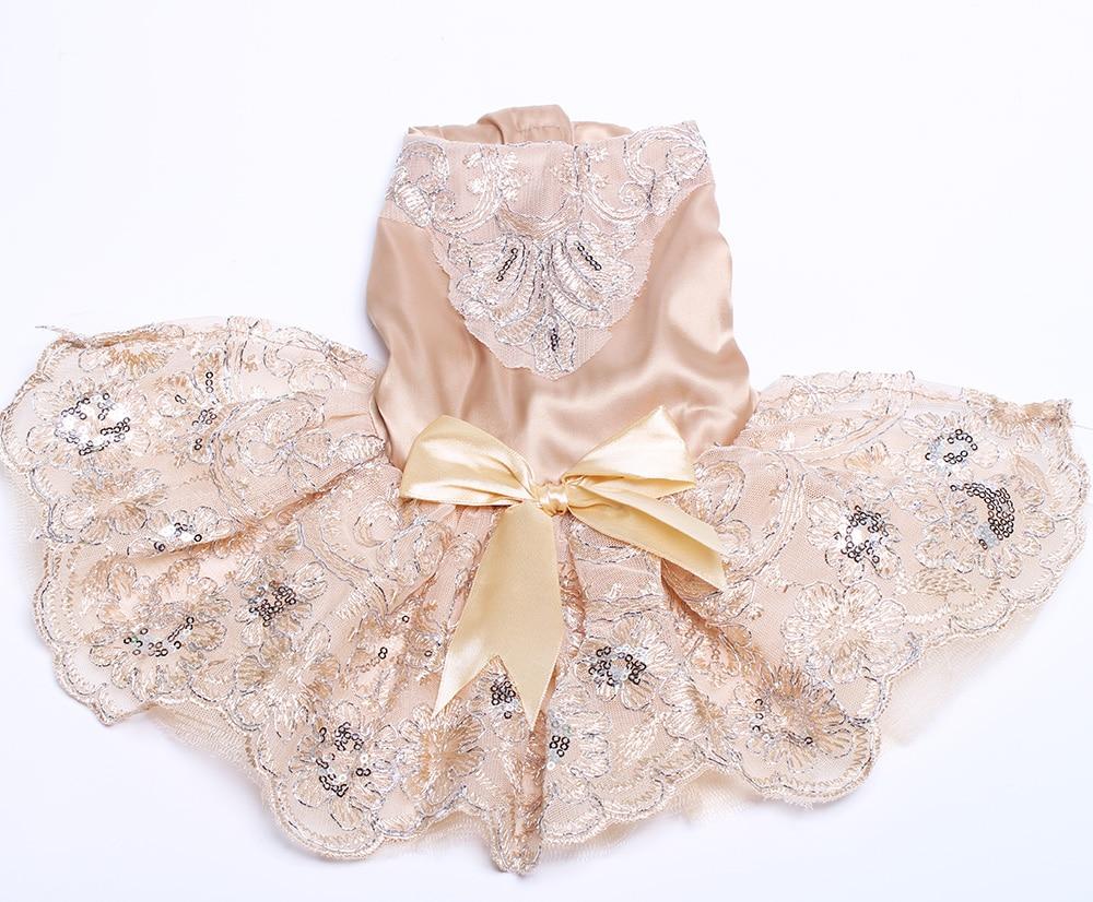 Hundkatt Bröllopsklänning Tutu Prinsesse Husdjurvalp Klänningar - Produkter för djur - Foto 5
