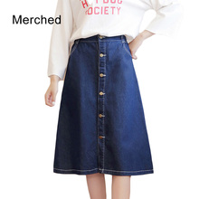 Merched high waist pockets skirts women preppy cute denim skirts female pockets plus size 4xl 5xl midi skirts mujer