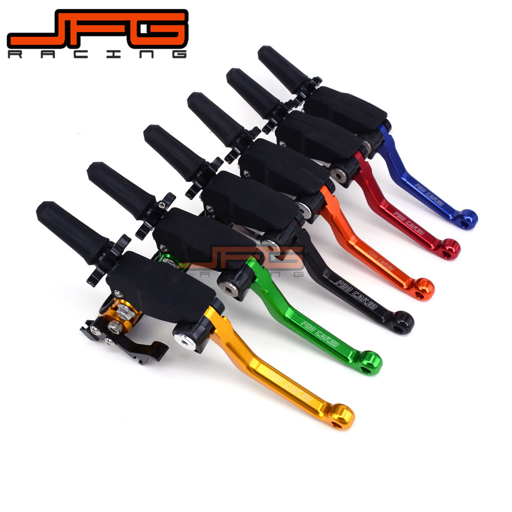 Billet CNC Unbreakable Foldable Adjustable Clutch Lever with clamps for CRF KTM YZF KXF RMZ HUSABERG HUSQVARNA ATK Motorcycle cnc adjustable motorcycle billet foldable pivot extendable clutch