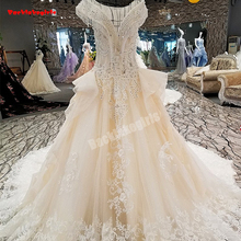 00280 Champagne Wedding Dresses Sleeveless Bridal Gown