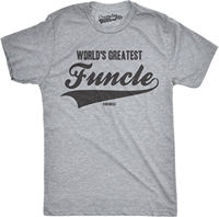 Mens Worlds Greatest Funcle Funny Fun Uncle Family Relationship T shirt summer o neck tee, free shipping cheap tee,2019 hot tees