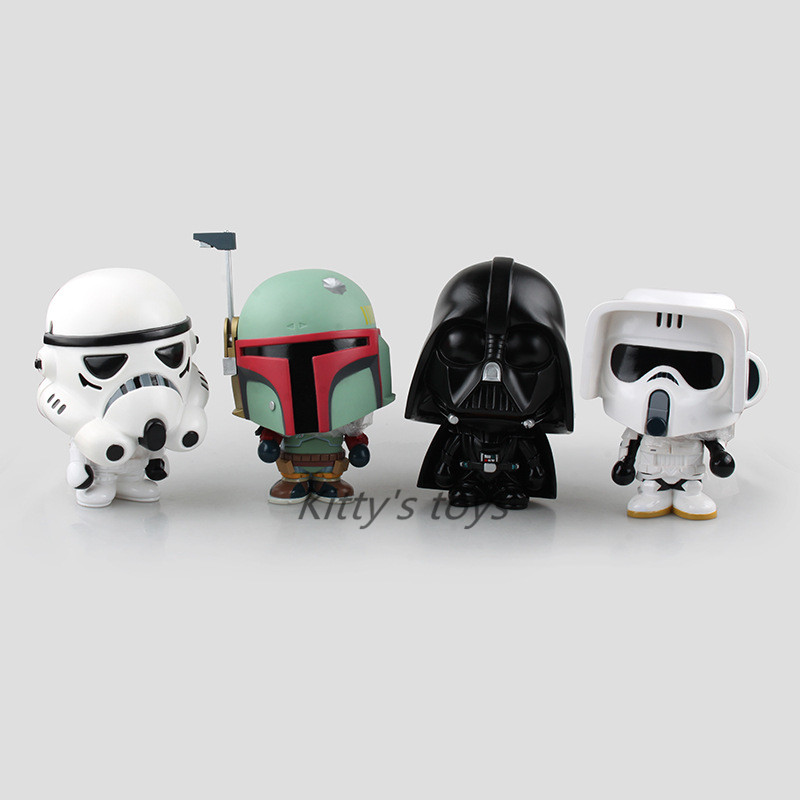 Star Wars Scout Trooper Boba Fett PVC Action Figure Collectible Model Toy 17cm 4Styles Free shipping KB0283 funko pop star wars boba fett 08 pvc action figure collectible model toy 12cm fkfg126 retail box sp050