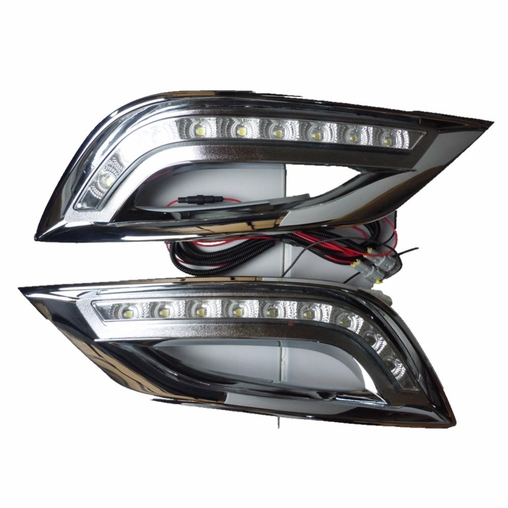 For Hyundai SONATA 8th 2011-2013 car styling LED Daytime running lights led DRL day lights  fog lamp hyundai ix55 3 8 пробегом