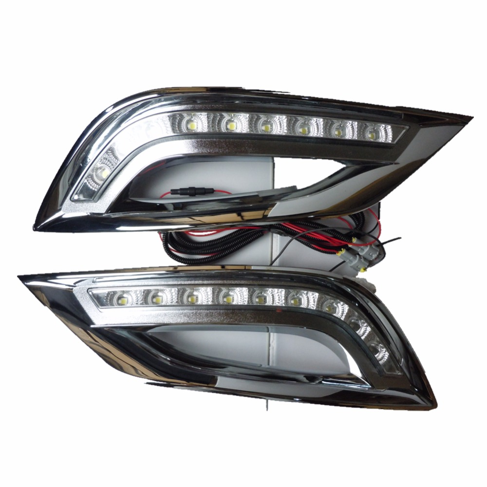 For Hyundai SONATA 8th 2011 2013 car styling LED Daytime running lights led DRL day lights fog lamp