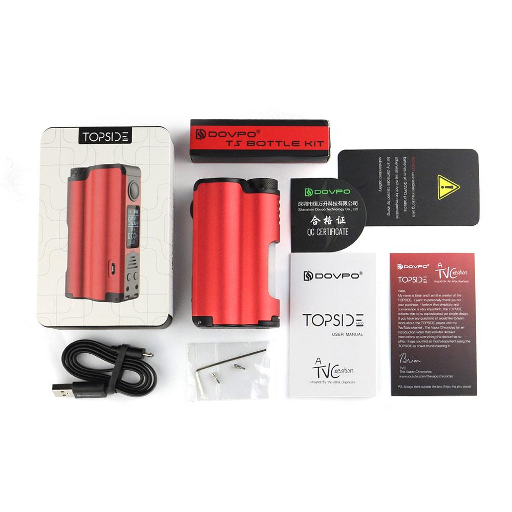 100% Original DOVPO Topside 90W Top Fill TC Squonk MOD w/ 10ml Large Squonk Bottle & 0.96 Inch OLED Screen VS DRAG Box Mod Ecig
