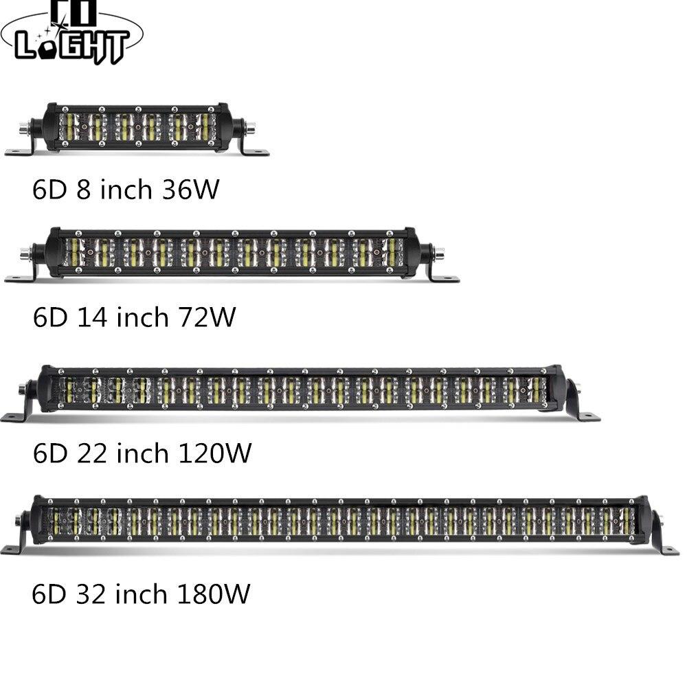CO LIGHT 6D световая панель 8 14 22 32 светодио дный светодиодный рабочий свет комбинированный луч двухрядный для грузовика лодка 4x4 4WD ATV Offroad авто ...