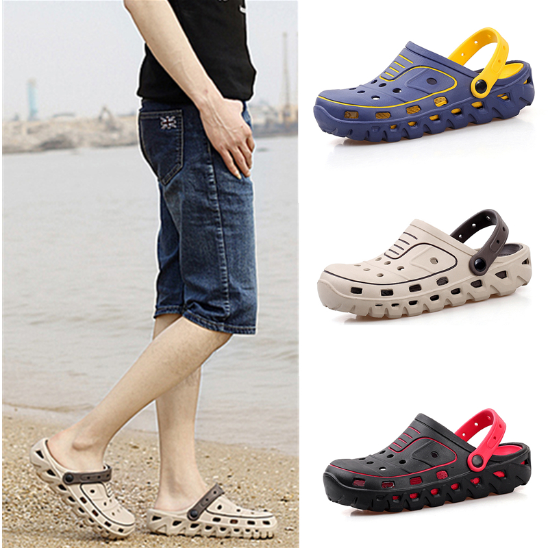 Summer Water Shoes Men Hollow Aqua Shoes Swimming Light Slippers Barefoot Shoes 2019 Clogs Cool Beach Sea Fishing Sandals Men