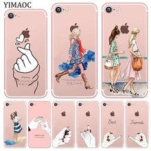 YIMAOC Best Friend Girlfriend Boyfriend Shopping girl Soft Silicone Case for iPhone XR X XS 11 Pro Max 5 5S SE 6 6S 7 8 Plus 10 yimaoc hailee steinfeld ross soft silicone case for apple iphone 11 pro xr xs max x 10 8 plus 7 6s 6 plus se 5s 5 7plus 8plus