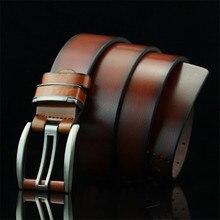 цена на Luxury Pin Buckle Belts Retro Leisure Men's Belt for Male Leather Belt Quality PU Leather Waist Strap Men Belt Cummerbunds