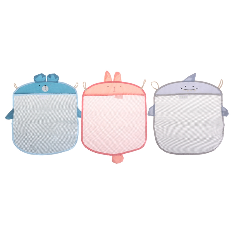 2017 Cute Baby Bathroom Mesh Bag Child Bath Toy Storage Net Waterproof Toy Baskets 40*35cm APR29_17