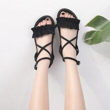Fashion Women Sandals 2019 Summer Female Shoes Woman Platform Gladiator Sandals Ladies Cross Tied Flat Sandals Women Sandalias недорого