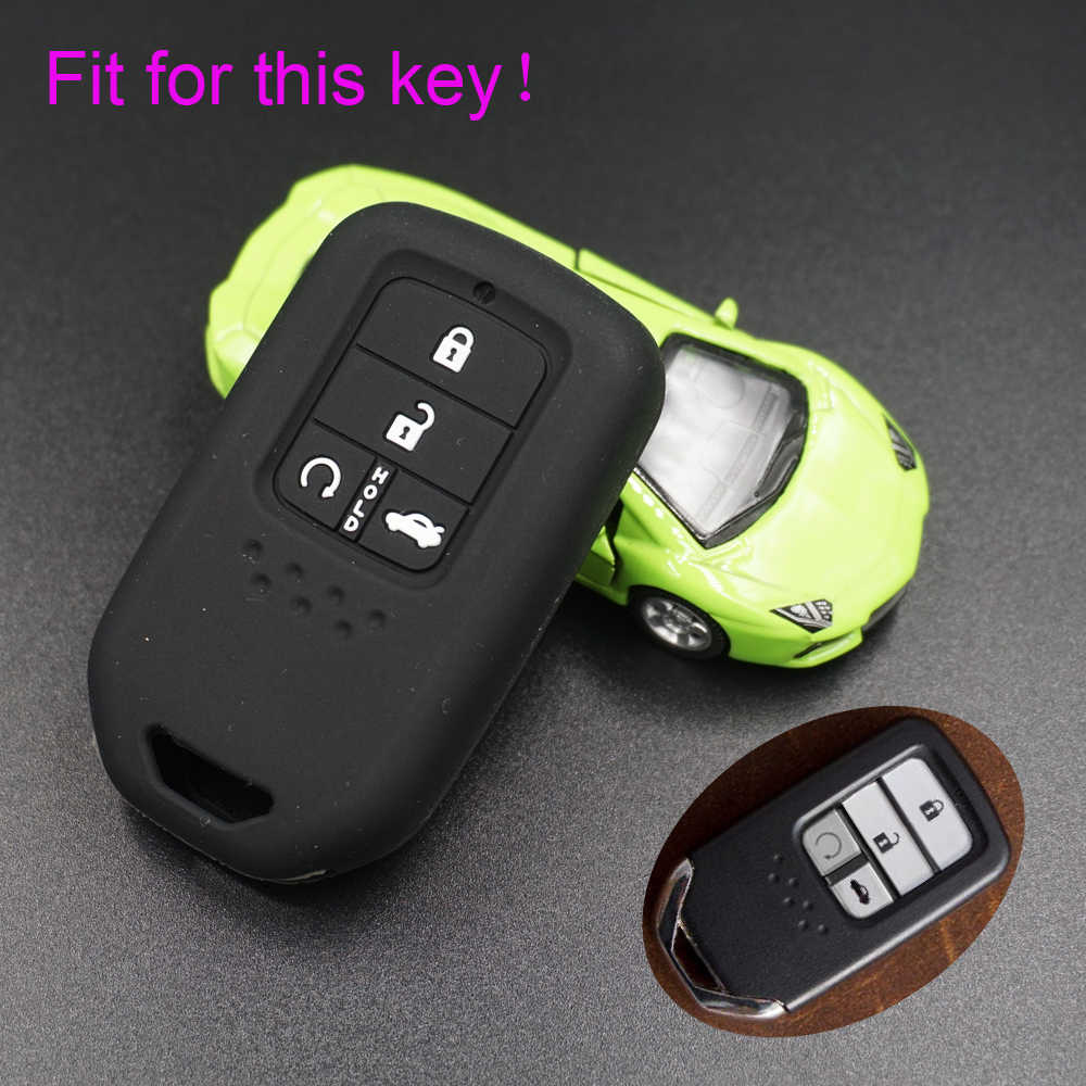 Xinyuexin силиконовый Прокат ключевые чехол для HONDA 2016 2017 CRV ПИЛОТ Accord Civic Fit освобождается удаленный ключевой куртка автомобиль -stying