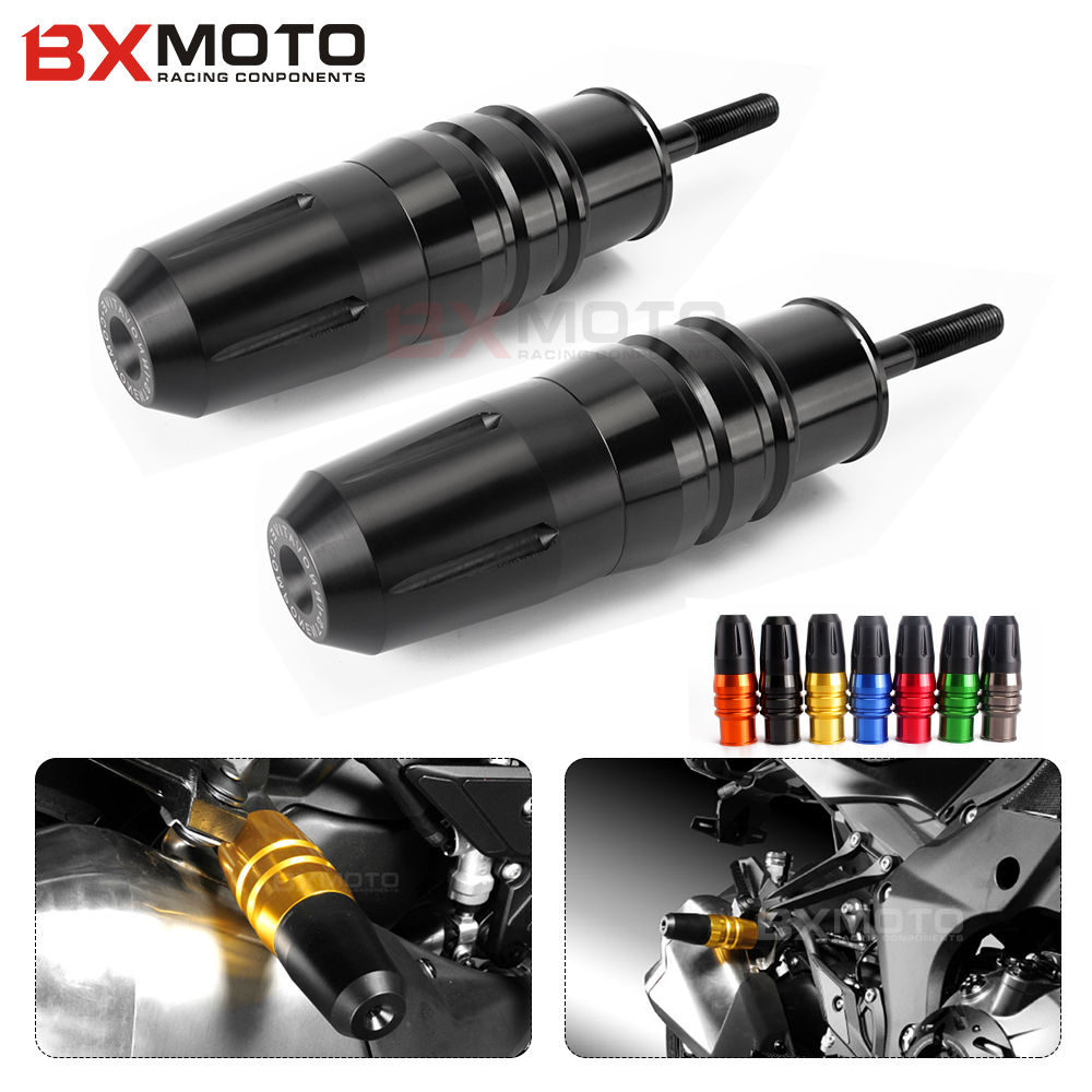 цена на 2 Pcs Motorcycle Crash Pads Exhaust Sliders Crash Protector For Kawasaki Z1000 Z1000sx 2013-2017 Black Motorcycle Accessories