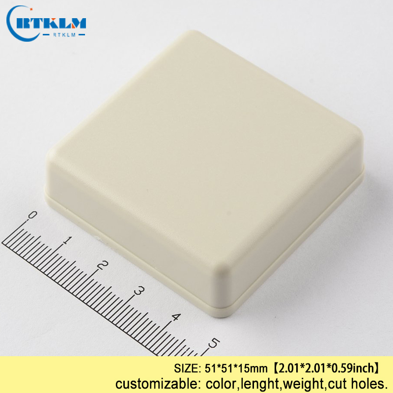 ABS plastic project case Plastic Tracker Small design Device enclosure diy electric junction box instrument box 51*51*15mm IP54 image