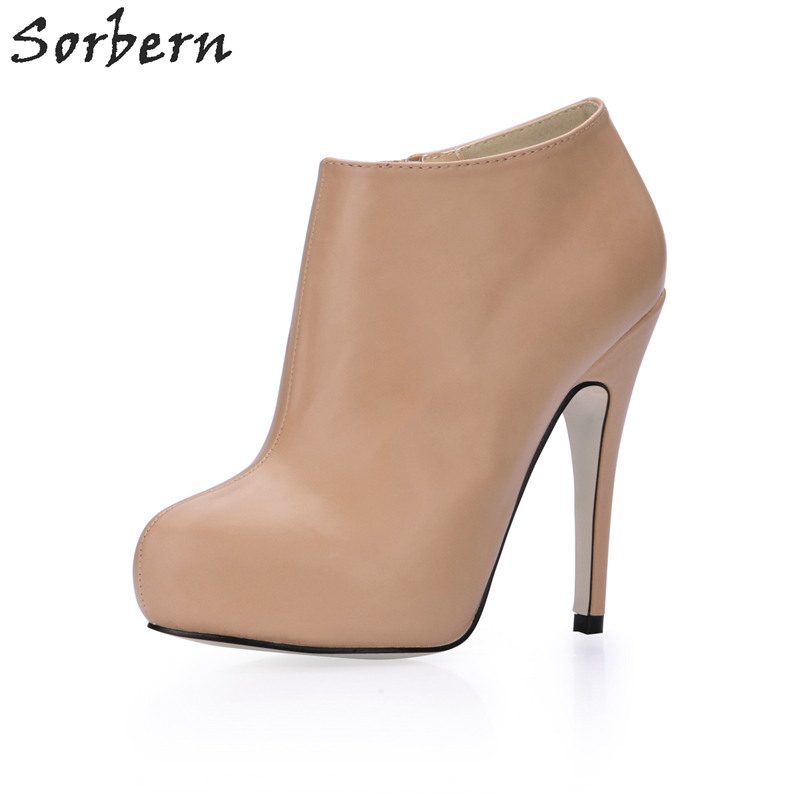 Sorbern Brand Woman High Heel Platform Shoes Designer Boots Women Luxury 2017 Ankle High Boots Ladies Zapato De MujeresSorbern Brand Woman High Heel Platform Shoes Designer Boots Women Luxury 2017 Ankle High Boots Ladies Zapato De Mujeres