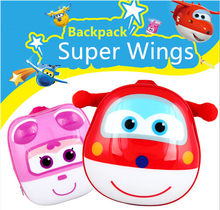 Super Wings 3D Lovely Action Figures School Backpack Toys & Hobbies Baby Kindergarten Study Stationary Anime Series Movie & TV(China)