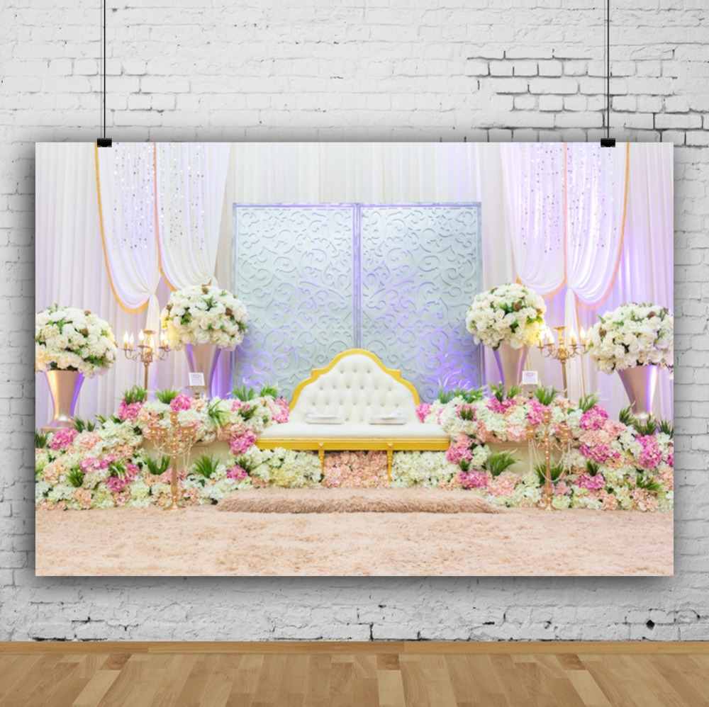 Photo Backdrops Romantic Rose Wedding Flower Curtain Stage Party Candy Baby Portrait Photography Backgrounds For Photo Studio in Background from Consumer Electronics
